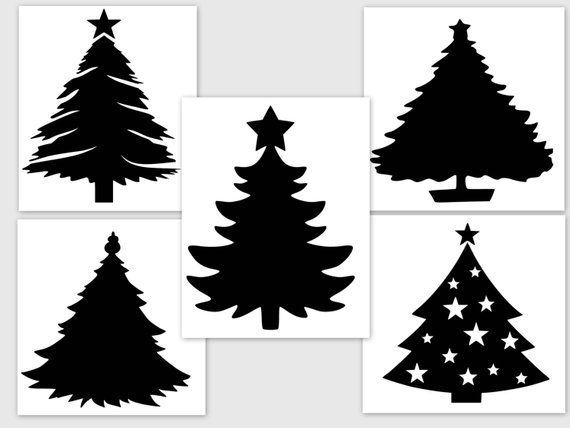 Download Christmas Trees - SVG PDF PNG Jpg File - Welcome ...