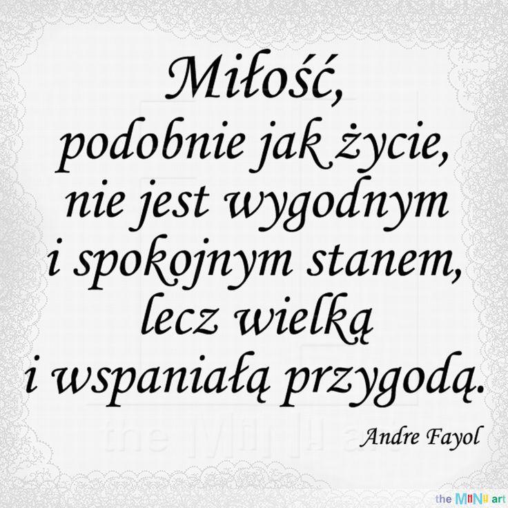 Stempel cytat - Miłość A.Fayol 52x45