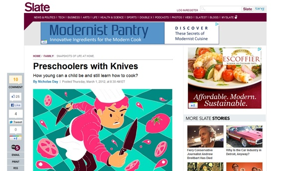 Slate | Preschoolers with Knives