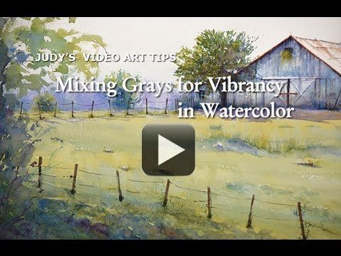 Video Art Tips-Mixing Grays for Vibrancy in Watercolor