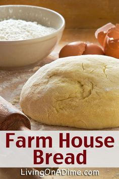 This farm house bread recipe is an easy recipe for the most delicious tasting farmhouse bread! It works with or without a bread machine. Find it here!