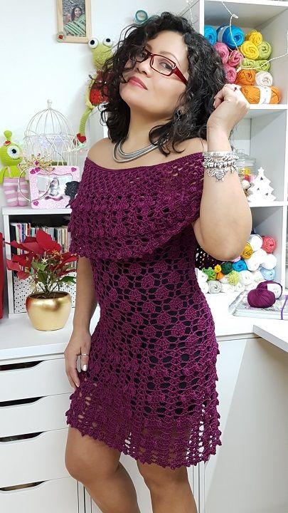 Vestido Ciganinha de Crochê