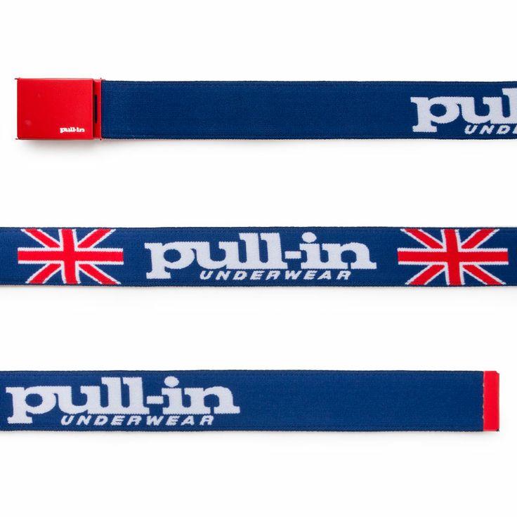 Cinturón Pull-in, bandera inglesa. Vista entera.