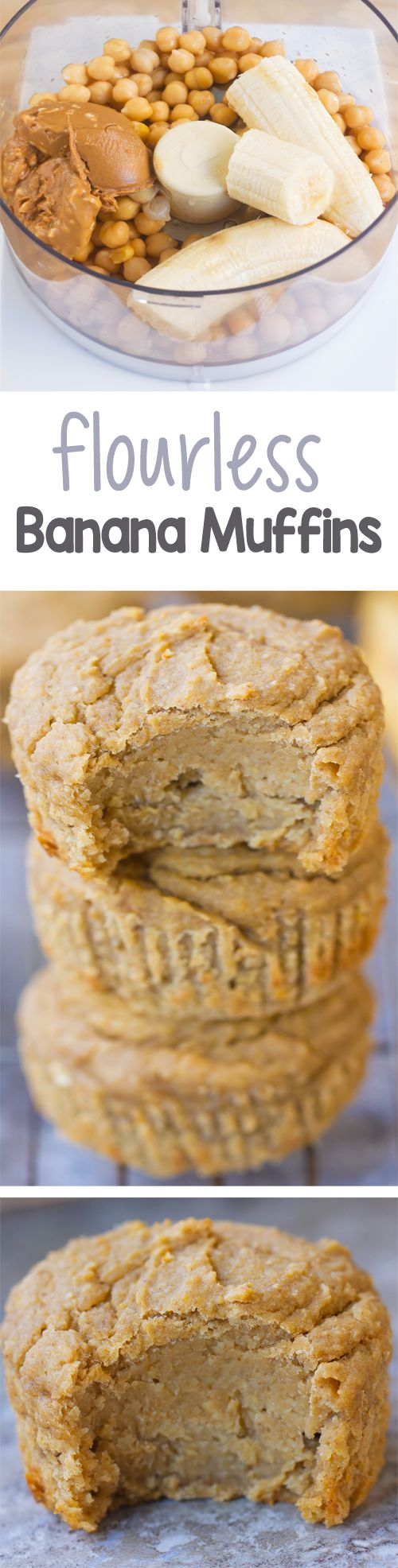 This is one of those MUST TRY recipes, and it will change the way you think of muffins. Flourless banana blender muffins