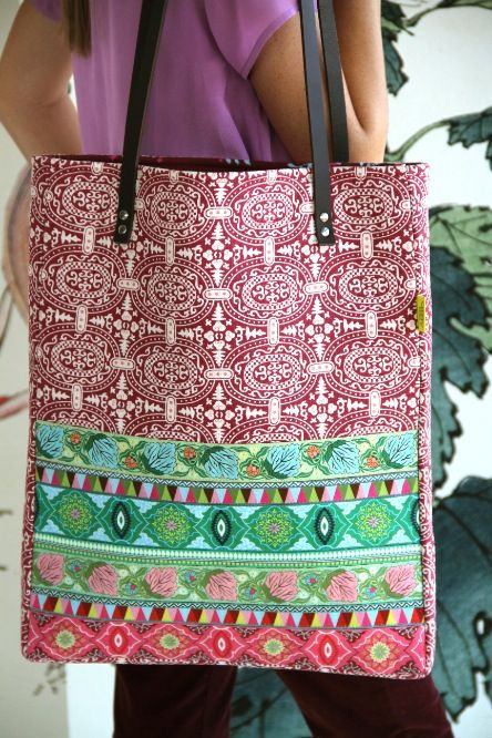 Amy Butler's new ribbon designs from Renaissance Ribbons! Tote Pattern available here - http://www.amybutlerdesign.com/pdfdownloads/