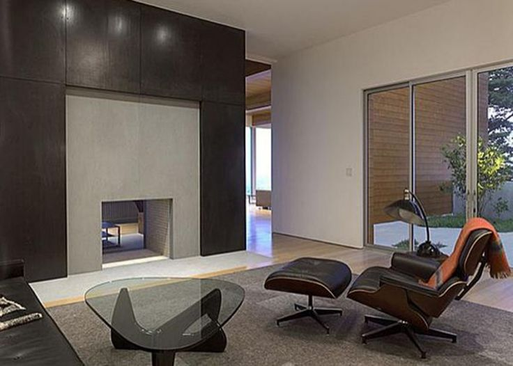 Living Room Noguchi Table Eames Lounge Chair Ottoman From The Stables Of Herman Miller Glass