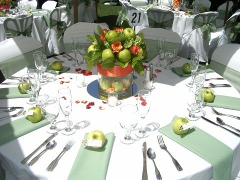 Wedding Table Decorations Using Apples | Cariad Productions   Event And  Wedding Planning: Fall Wedding