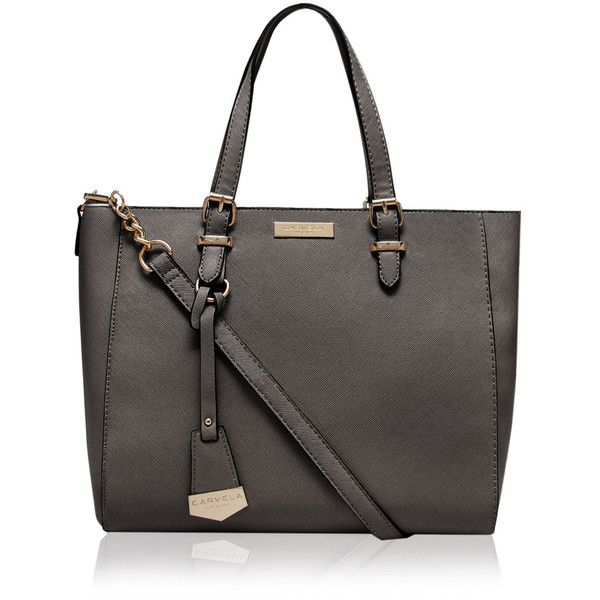 Carvela Kurt Geiger Dina Winged Tote ($56) ❤ liked on Polyvore featuring bags, handbags, tote bags, grey, gray tote bag, grey purse, gray tote handbags, tote hand bags and tote bag purse