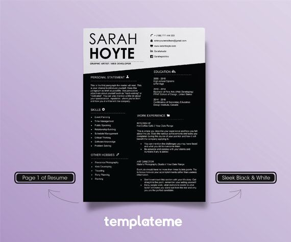 cool resume template microsoft word web designer graphic free download design black white contemporary unique professiona