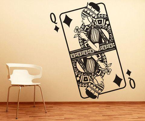 Vinyl Wall Decal Sticker Queen of Diamonds #OS_DC362