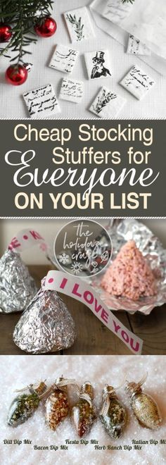 Cheap Stocking Stuffers for EVERYONE On Your List| Stocking Stuffers, DIY Stocking Stuffers, Gift Ideas, Christmas Gifts, Christmas Gift Ideas, DIY Stocking Stuffers, Cheap Stocking Stuffers, Cheap Christmas Gifts, Inexpensive Christmas Gifts #StockingStuffers #Christmas #ChristmasGifts #CheapChristmasGifts