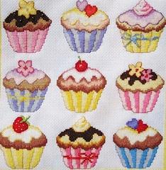 Cup cakes cross stitch