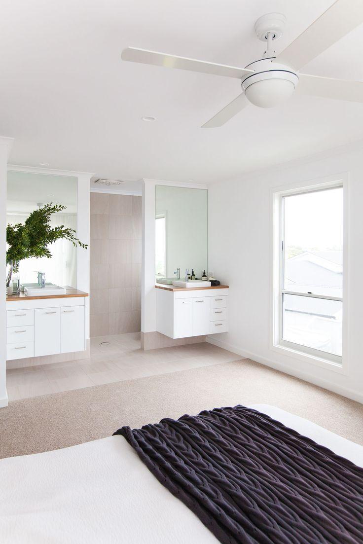 Shepperd Building Company / Fresh + Modern New Home / Ensuite & Master Bedroom open plan