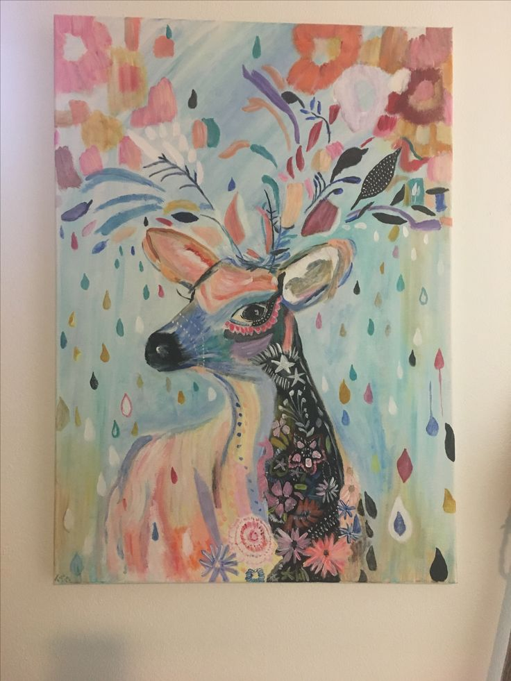 I just finished painting my deer. Lots and lots of detail in this. Took a while. Finished August 2017