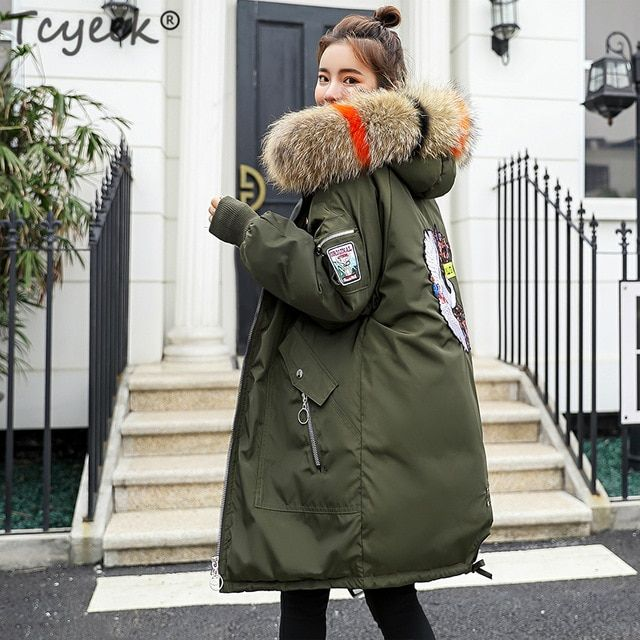 972780a00 Tcyeek Womens Winter Jacket Ladies Thick Clothes Down Cotton Padded ...