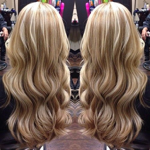 beautiful blonde highlights hairstyle cut