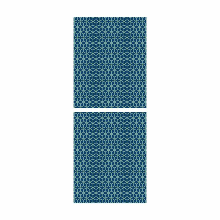 Möbelfolie Für IKEA Billy Regal   Klebefolie Würfelmuster Blau