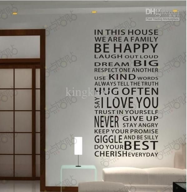 English Words Curtain Wall Stickers, Stylish Wall Art Stickers, Wallpaper Wall  Decals Home Decor