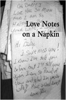Love Notes On Napkins   Romantic  Love Letters    Dads