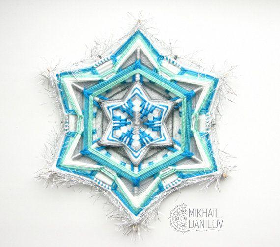 """Woven mandala """"Snowflake"""""""