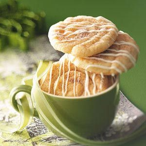 Mini Cinnamon Roll Cookies Recipe from Taste of Home -- shared by Mary Gauntt, Denton, Texas