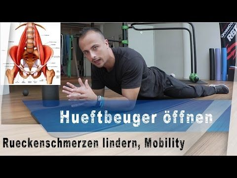 Hüftbeuger Mobilisieren, Hüftstreckung verbessern, Rückenschmerzen lindern #MobilityMonday - YouTube