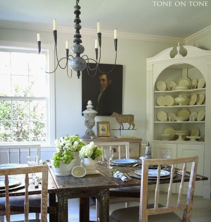 tone on tone a splendid luncheon - Dining Room Inspiration