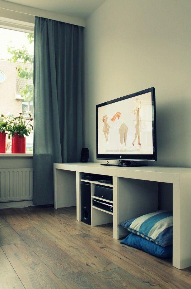 Zelf gemaakt tv meubel