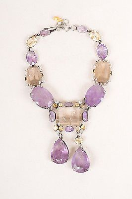 Iradj Moini Amethyst and citrine necklace.