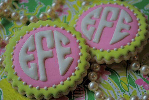Circle Monogram cookies!