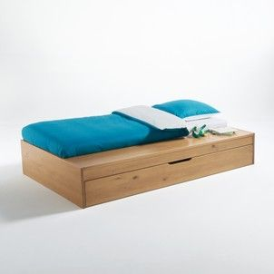 0db06e47085 Yann Platform Bed with Bench and Pull Out Bed La Redoute Interieurs - Beds