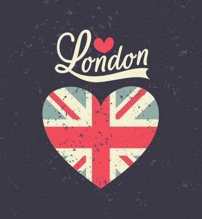 London #love -  #corazon  text -  Londres,  #bandera  #colorful