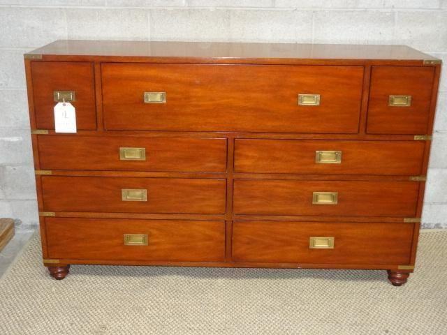 Lauren Ralph Lauren Henredon Campaign Style Mid Century Cradenza Dresser Campaign Henredonlaurenralphlauren Living Room Console Home Decor Henredon