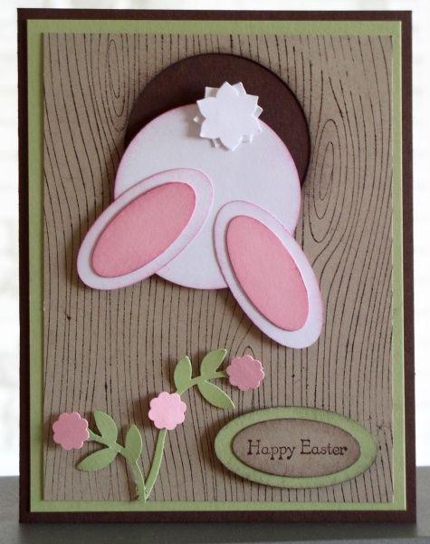 Tree Stump Hole Bun..bunny..cute spring card!  .