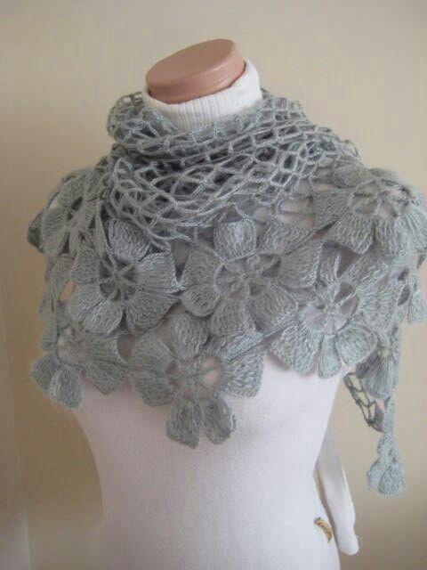 Crochet Floral Shawl Pattern : Sirkels hekelwerk serpe Pinterest