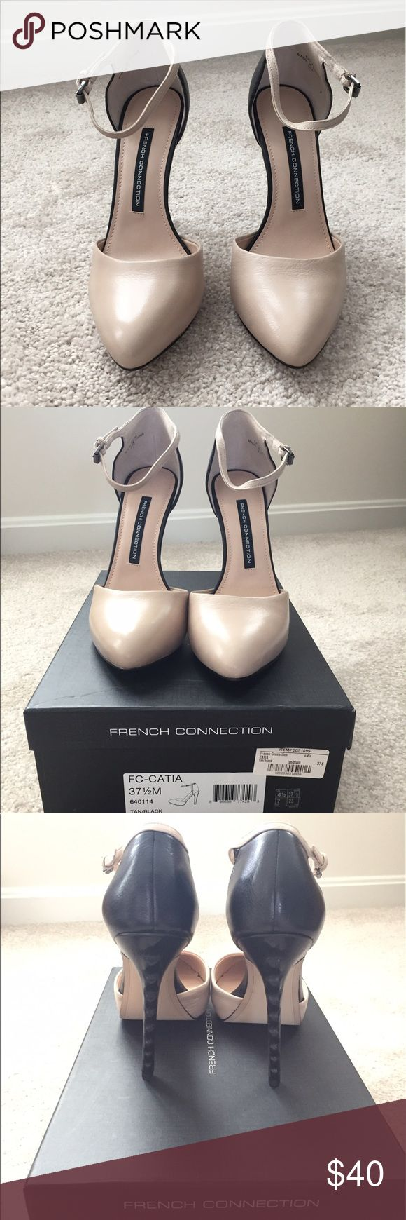 French Connection Ankle Strap Pumps Stylish two tone French Connection shoes. Brand new in box! French Connection Shoes Heels