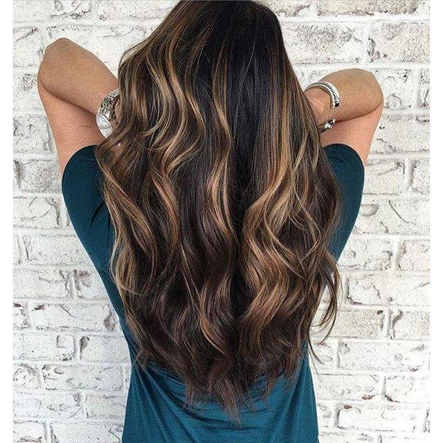 #longhairtips brunette balayage