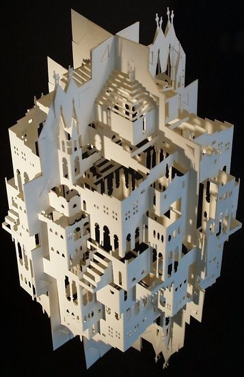 Paper architecture.  Reflection by Ingrid Siliakus