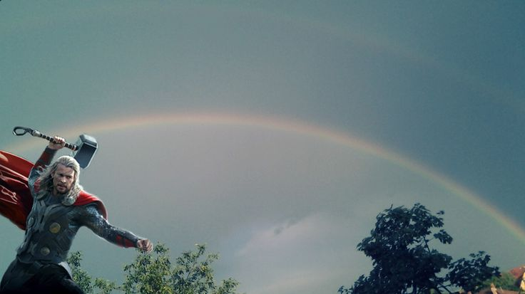 Thor and bifrost over my backyard