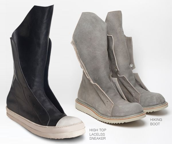 """MALIK THE STYLIST """"ALL IN MY MIND"""" FASHION BLOG: MEN SHOE SWAG: RICK OWENS FALL 2012 HIGHTOP SNEAK VRS RICK OWNES SPRING 2012 HIKING BOOT"""