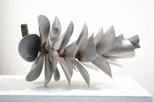 "Floyd Elzinga PINE CONE 17"" / Canada House Gallery - stainless steel 17"" x 10"" x 10"""