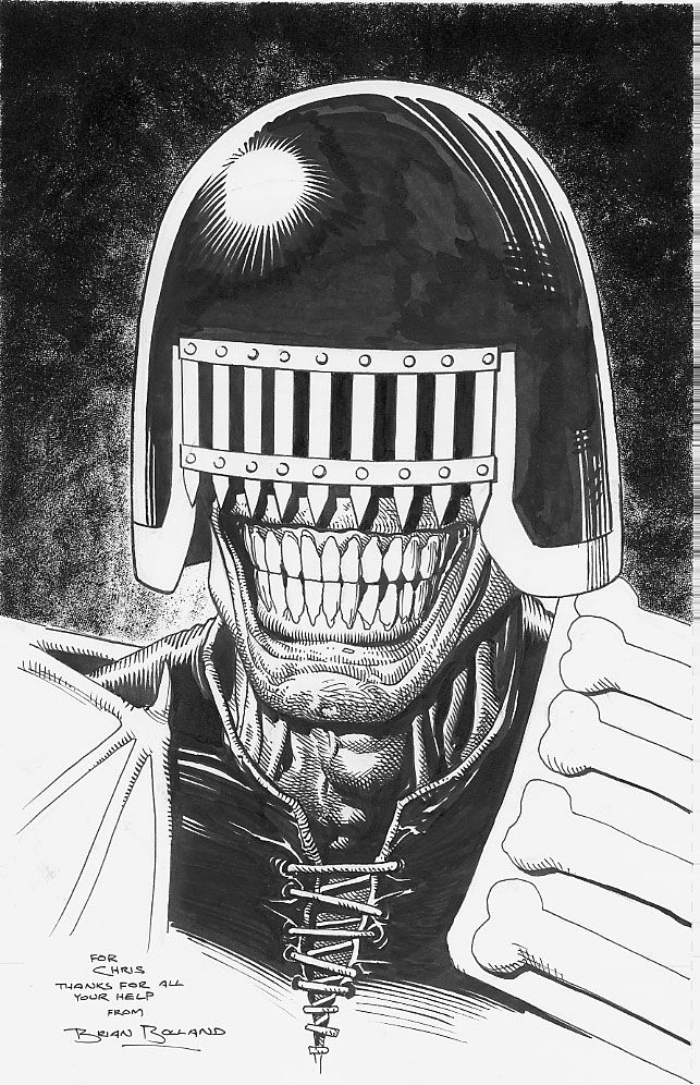 Judge Death by Brian Bolland Comic Art