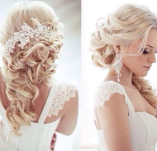 half up wedding hair styles
