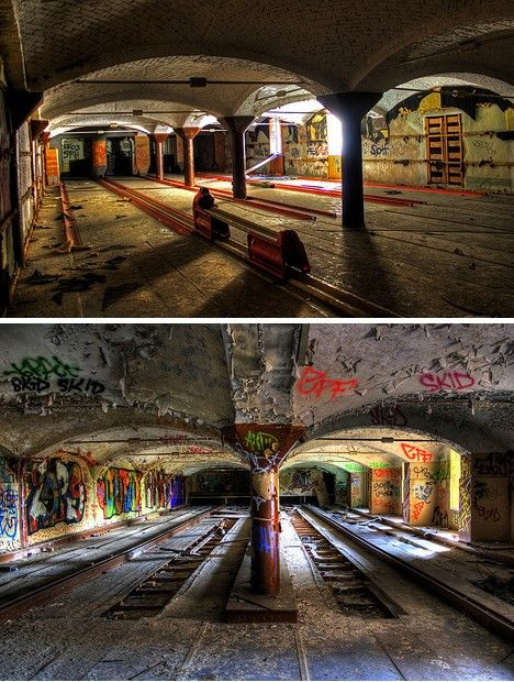 Berlin's former Bömisches Brauhaus illustrates just how far an abandonment can fall before it's completely unrecognizable. The 19th century brewery underwent conversion into a sports center that included facilities for basketball, football, and ten-pin bowling.