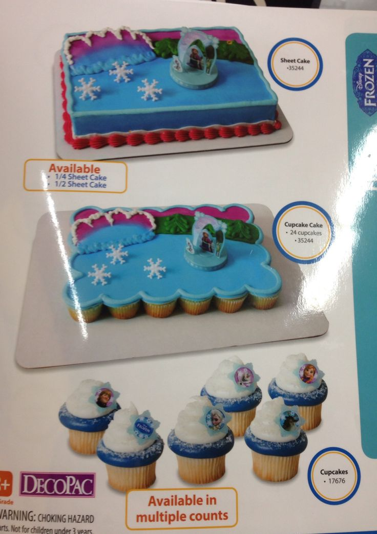 Frozen Cake And Cupcakes At Walmart Birthday Pinterest