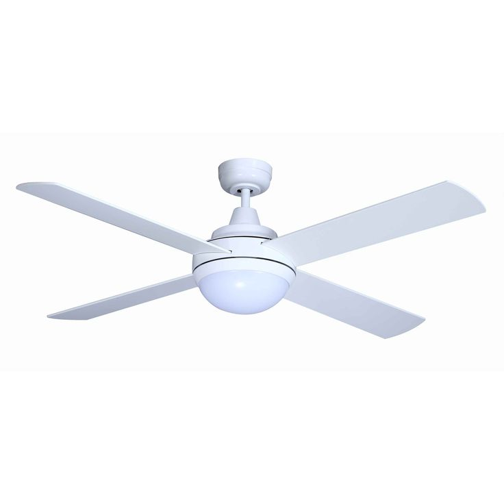 "Mercator - Grange 52"" White DC Ceiling Fan with LED Light and Remote"