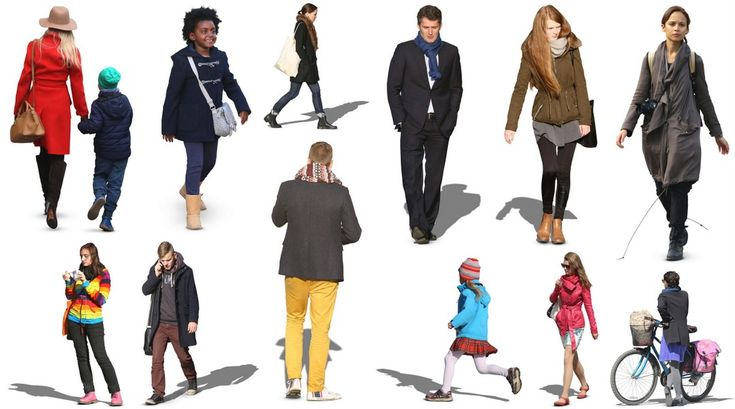 Architecture People 12 free 2d autumn cutout people - 3d architectural visualization