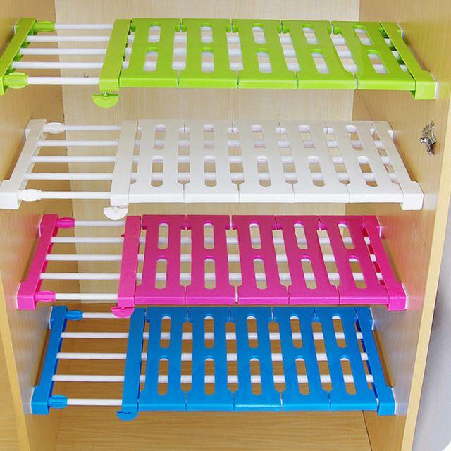 Cocina organizador del armario de almacenamiento en capas separador cocina actualización gabinetes escalable partición estanterías Estantes de uñas de Envío