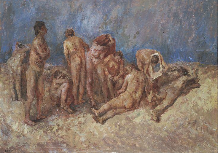 Fausto Pirandello, La spiaggia, 1940