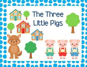 Freebie - A cute little abridged version of the Three Little Pigs.  The story is simplified to provide opportunity for the students to find the obvious grammatical features and narrative story structure..or just read for fun on your Smart Board!!  #tpt #sarahanne